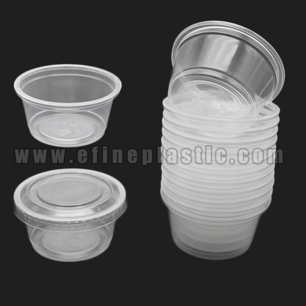 2 oz Portion Cups with Lids Plastic Souffle Cups