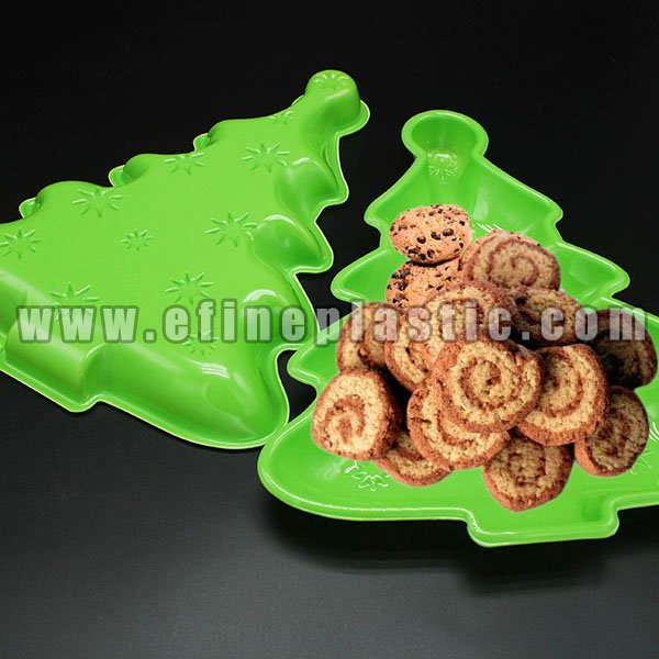 Christmas Tree Cookie Tray Plastic Partyware