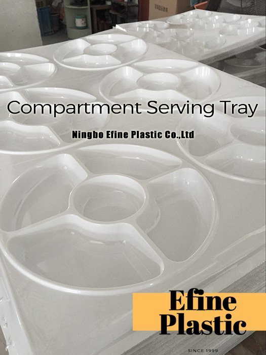 5 section plastic party trays - Ningbo Efine Plastic