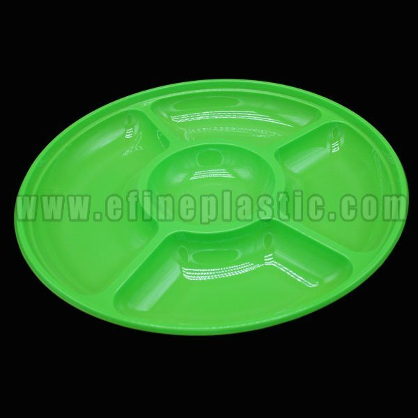 Round Chip & Dip Platter Plastic Party Serving Trays