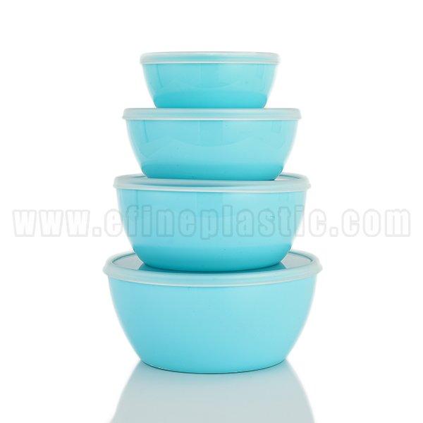 Plastic Round Food Storage Container 4 piece Set