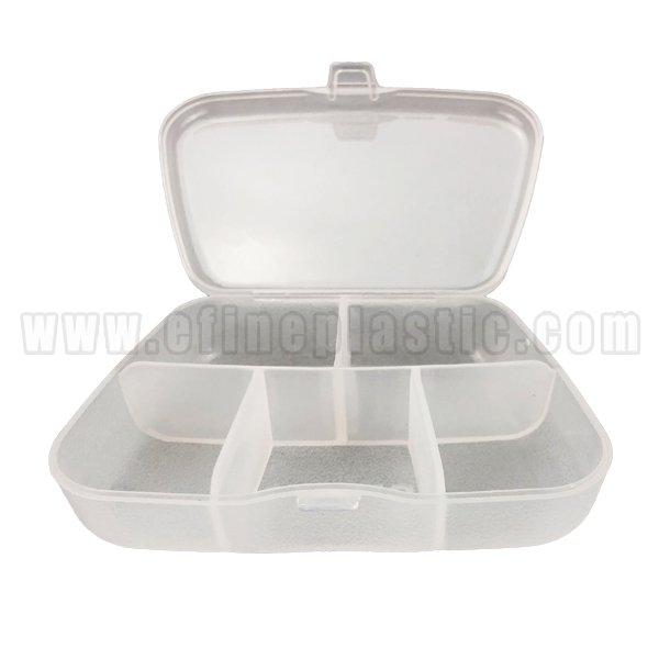 Portable Pill Box Case 5 Compartments