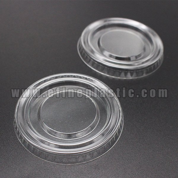 Clear PET Flat Lids for portion cups