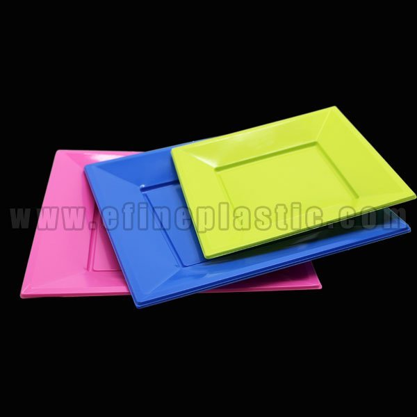 Square Disposable Plate Party Tableware