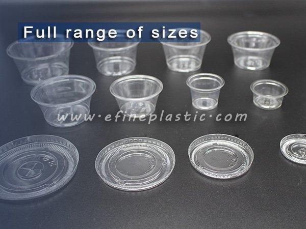 Plastic Portion cups 0.75oz 1oz 2oz 2.5 oz 3.25oz 4oz 5.5oz