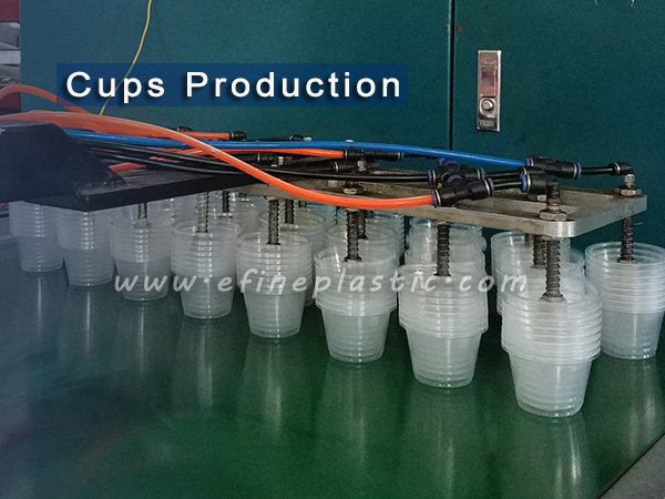 plastic cups production