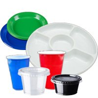 Disposable party tableware