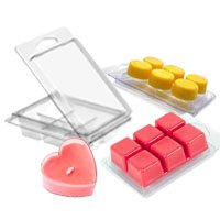 candle packaging clamshell molds