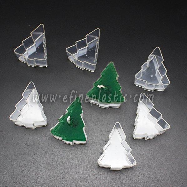 Christmas tree shaped tealight cups