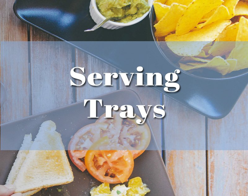 party serving platters