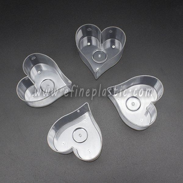 Polycarbonate Heart Tea Light Cups