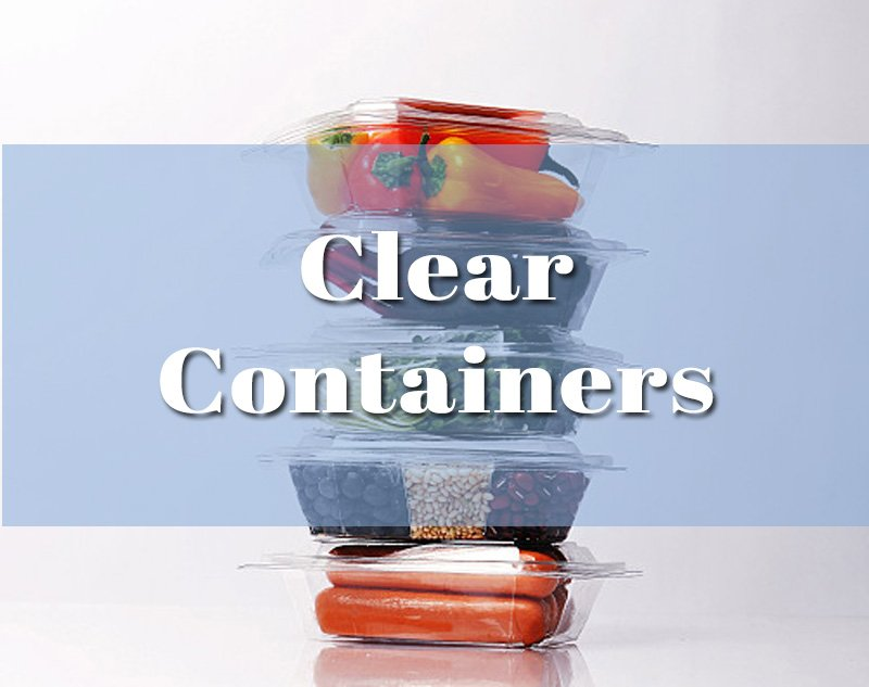 Clear Containers Packaging