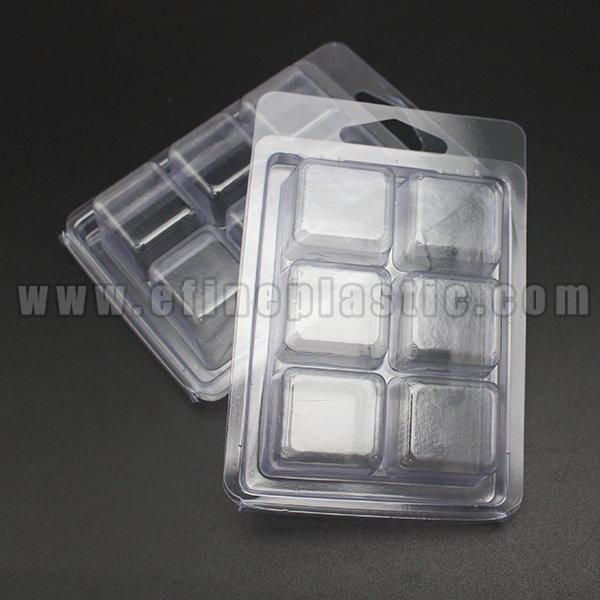 plastic 6 cavity clamshells for wax melts