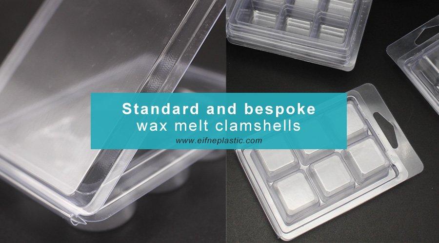 standard and bespoke wax melt clam shells